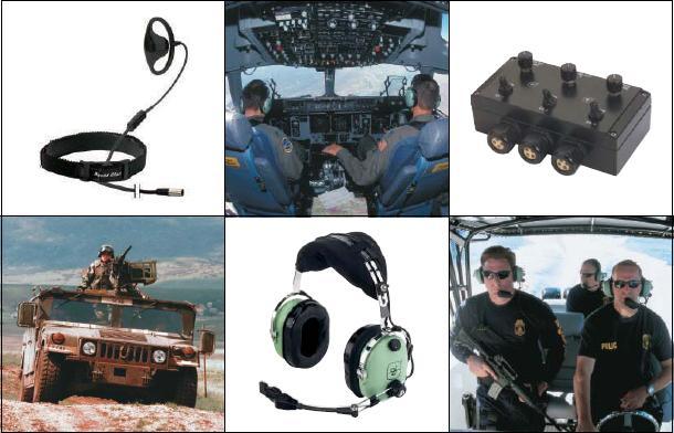David Clark dla wojska słuchawki lotnicze interkom pojazdowy  Polska